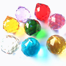 102PCS/lot,Free Shipping 30mm Crystal Faceted Ball,Crystal Chandelier Ball Parts, Wedding&Fengshui Ball,Mixed 10 Colors