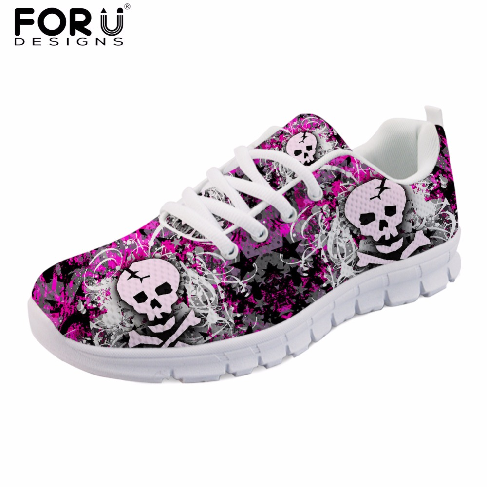 FORUDESIGNS Female Spring Summer Flats Casual Shoes High Quality Skull Womens Sneakers Comfort Mesh Shoes for Student Women  FORUDESIGNS Female Spring Summer Flats Casual Shoes High Quality Skull Womens Sneakers Comfort Mesh Shoes for Student Women