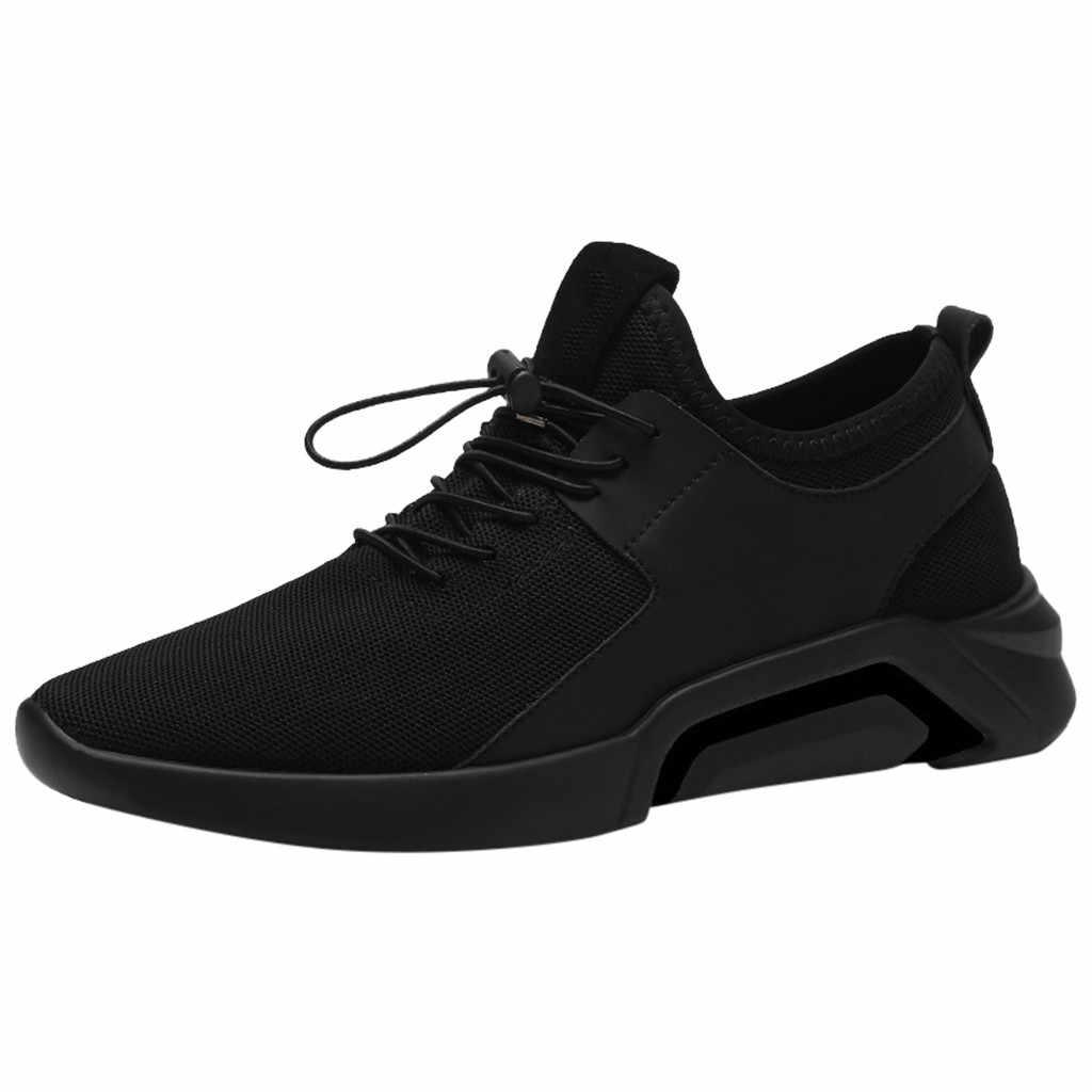 Ayakkabı için Rahat Erkekler 2019 İlkbahar Yaz Yeni erkek Rahat Rahat Nefes spor salonu ayakkabısı yumuşak Ayakkabı Aşınmaya dayanıklı