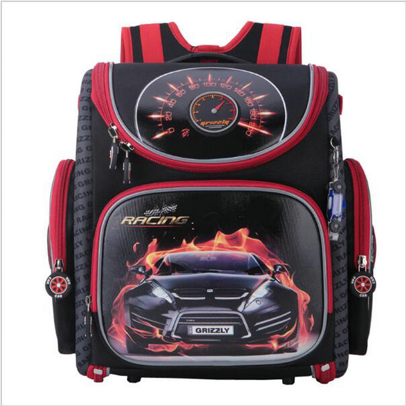 Buy Cheap Russian Style Cartoon Red Racing Kids School Bags for Boys  Waterproof Foldable Orthopedic School Backpacks For 1 4 Grade Studets Price 1462a5ab5622c