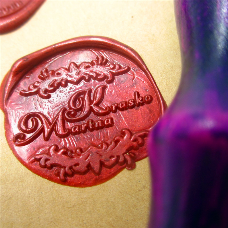 Flower design Initials customize your logo Name Box set personalized Letter/Sealing Wax /wedding Wax Seal Stamp Gold  Custom корпус atx foxline fl 911b 450prs 450 вт чёрный