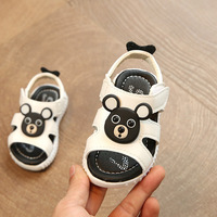 2017 Cartoon Baby Boys Girls Shoes Summer Infant Slippers 0 18M Toddler First Walkers Kids Leather