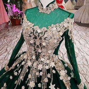 Image 2 - Vestidos de novia AIJINGYU 2021 2020, vestido moderno de lujo con mangas, vestidos de novia de encaje de América a la venta, vestido de boda de compromiso