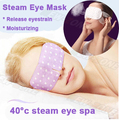 Nueva vapor máscara de ojo fragancia cálida generación ojos Spa hidratante de liberación rápida la fatiga visual calentador parche en el ojo para dormir ojos máscara