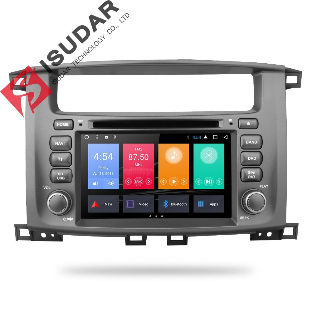 Isudar Voiture Multimédia lecteur 2 din Auto Android 7.1 7 pouce Pour TOYOTA/TERRE/CRUISER/LC100/ 100 1998-2007 Pour Lexus LX470 Radio GPS