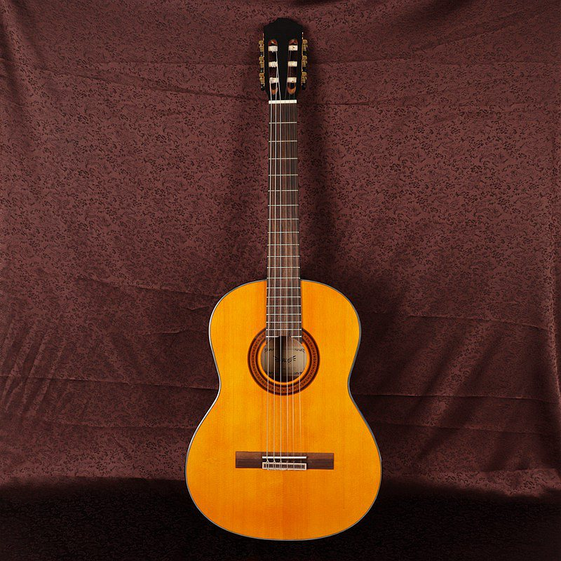good quality solid wood classic guitar