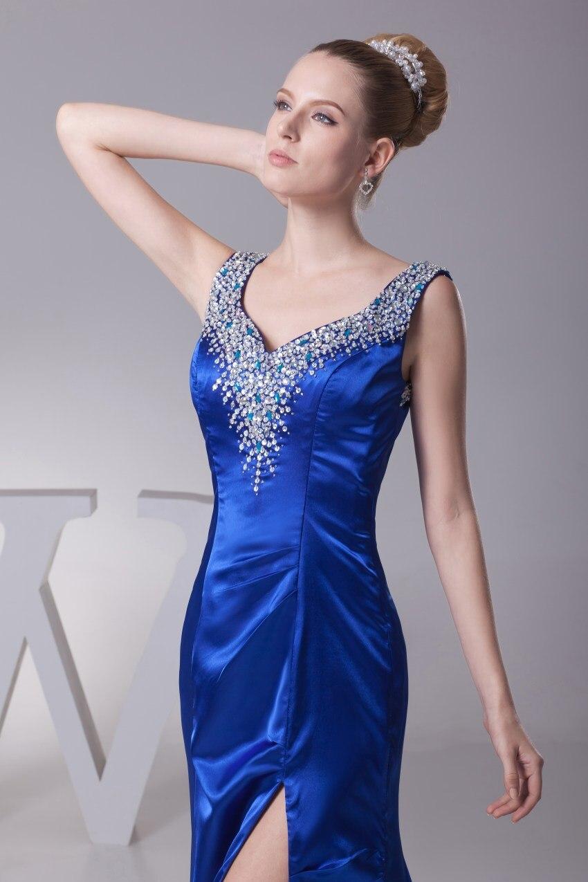 Braut Seite Der 2019 Abendkleider Mutter Neuheiten Elegante Blau Kleider Meerjungfrau Royal Sexy Formale Slit qwWzWITF