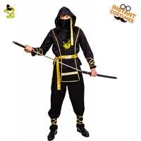 Hot Sale Adult Men S Ninja Costume Cosplay Halloween Party Masquerade Hot Movie Black Dress Clothes