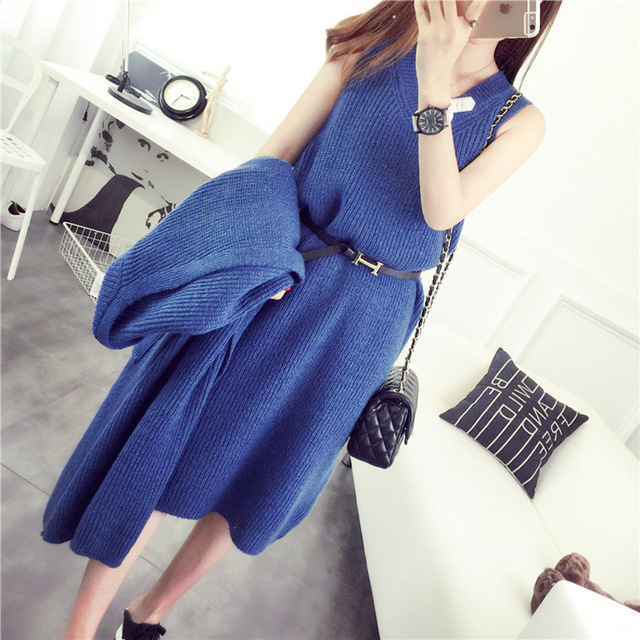 Maternity dress knit sweater Maternity Pregnant Women loose Long-sleeved Sweater Pattern Knit Sweater Coat Large Yards