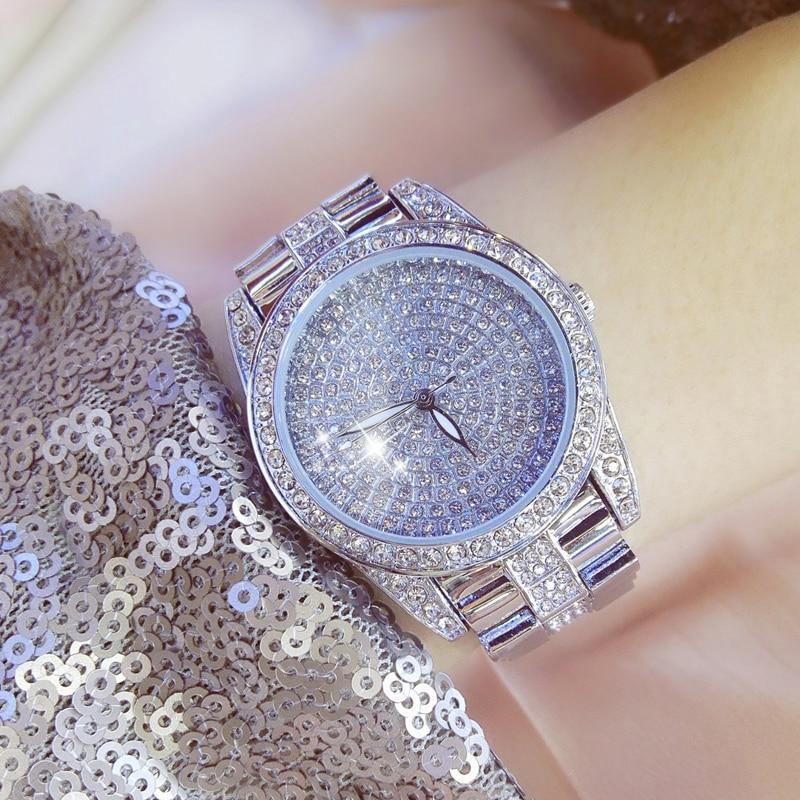 2018 yeni gül altın kuvars İzle kadın izle klasik tam elmas - Kadın Saatler - Fotoğraf 3