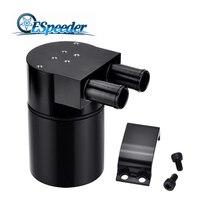 ESPEEDER Universal Aluminum Racing Engine Oil Catch Tank Can Turbo Reservoir Billet Cylinder Oil Catch 500ML For BMW N54 335