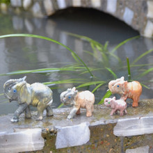Stone carving elephant home generation living room office decoration crafts town house courtyard animal small ornaments desktop