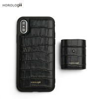Horologii Custom Name Free for Best iPHONE CASE for 11 Pro Max X XS MAX Italian leather crocodile pattern gift box dropship