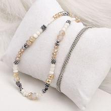 Роскошные классические ожерелья из стекла и камня с бусинами