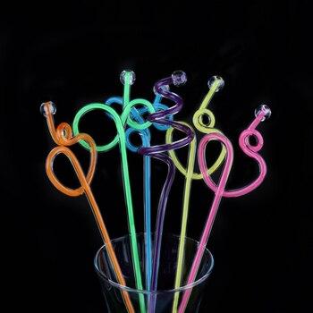 100pcs/lot Acrylic Swizzle Stick Fruit Juice Transfer Rod Stirring Rod Kitchen Drink Mixing Paddle Length 27cm