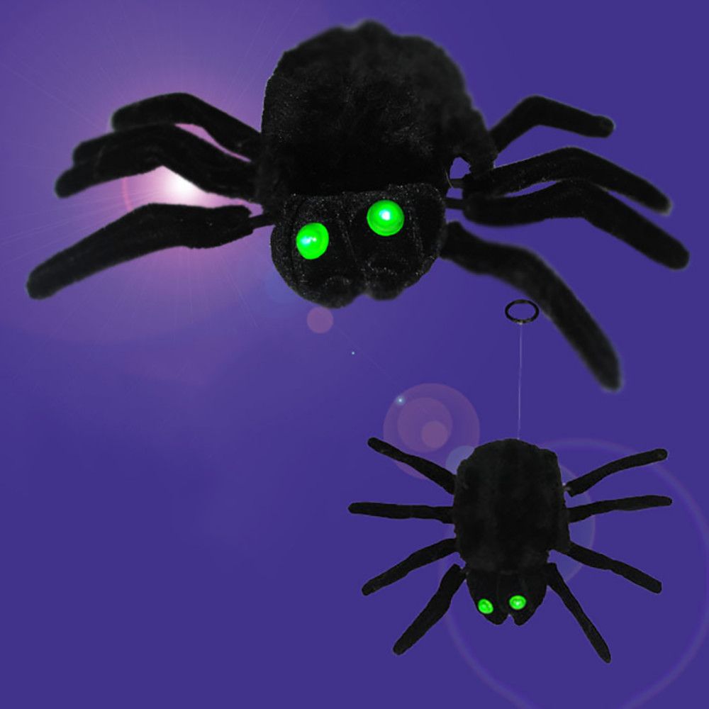 Hot Sale Funny Gadget Novelty Horror Black Furry Spider Halloween Supplies Props Prank Bar Moving Ornament April Fools Jokes Toys Spider Gags & Practical Jokes Toys & Hobbies