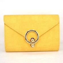 Neue Frauen Tasche Über Die Schulter Weiblich Geldbörsen Und Handtaschen Abend Umschlag-handtasche Valentine Frauen Handtasche gelb Falp tasche