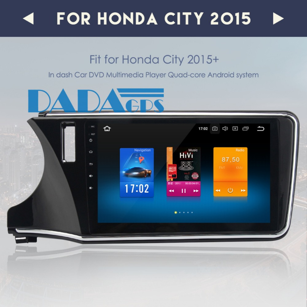 <font><b>10.2</b></font> Inch <font><b>Android</b></font> <font><b>8.0</b></font> 7.1 <font><b>Car</b></font> Radio <font><b>Stereo</b></font> GPS Navigation for Honda City 2015-2018 Multimedia Headunit Audio no DVD Player Video image