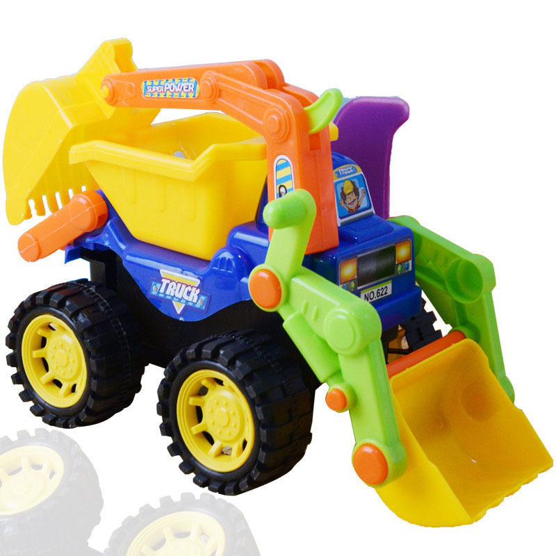 Inertial car dumper truck Engineering vehicle suit excavator tractor toys Excavating machinery Toy car for children Gift 1 PCS