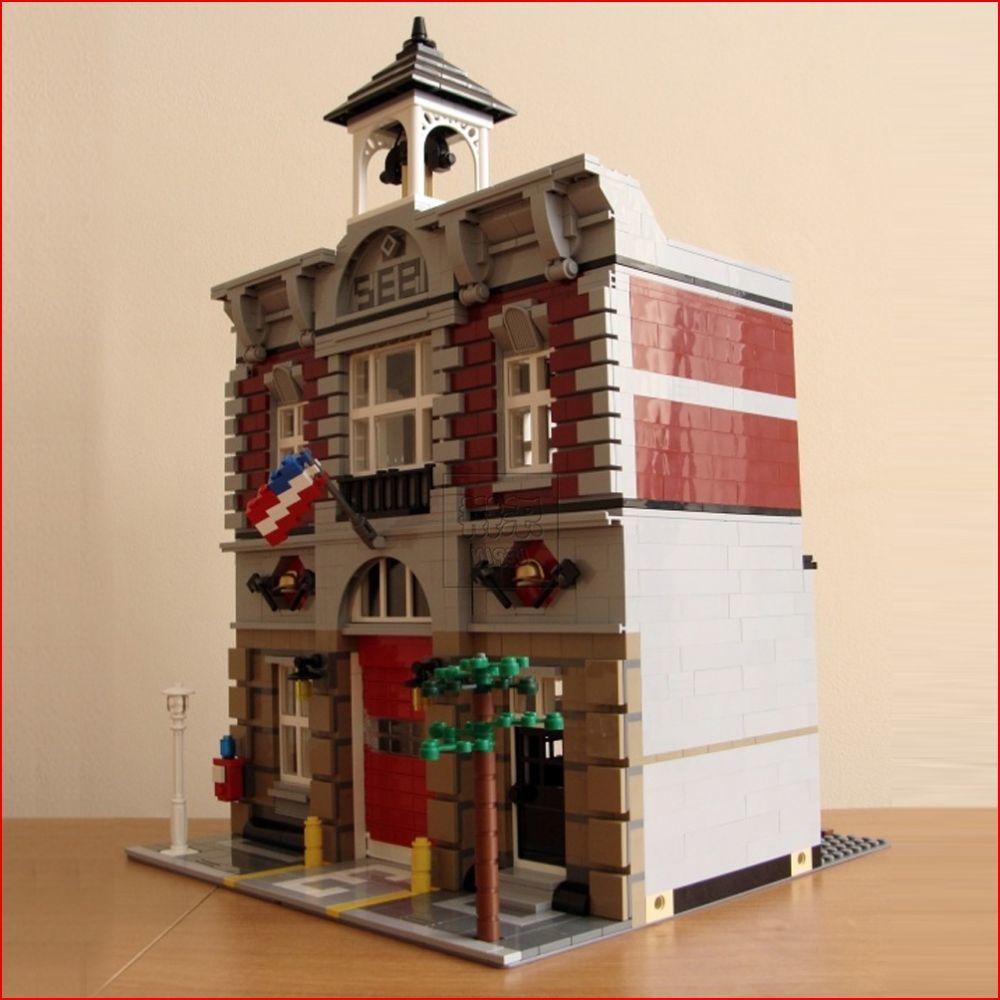 где купить Compatible Legoe 10197 Lepin 15004 2313Pcs Street Fire Brigade Model building blocks bricks toys for children по лучшей цене