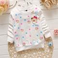 free shipping 2016 fashion kids baby girls t shirts spring autumn new cartoon bear children kids long sleeve t shirt