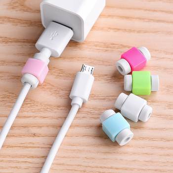 5000pcs/lot USB Data Cable Earphone Protector Colorful Earphones Cover For Apple iPhone Samsung HTC Free shipping