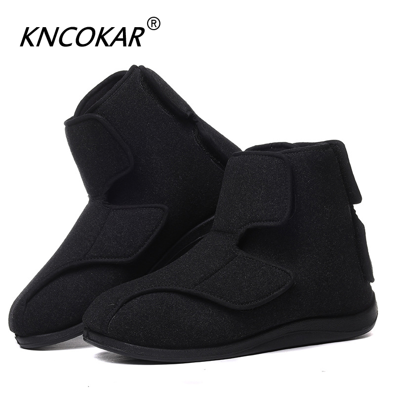 100% Quality Kncokar 2018 Hot Sales Mens Shoes Are Cozy Adjustable And Wide Cotton Cloth Shoes Suitable For Foot Swollen Feet And Fat Feet Men's Shoes