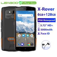 "LEAGOO X-Rover IP68 Waterproof Smartphone 5.72"" 6GB 128GB MTK6763 Octa Core NFC Face ID 13MP Dual Camera 5000mAh 4G Rugged Phone(China)"