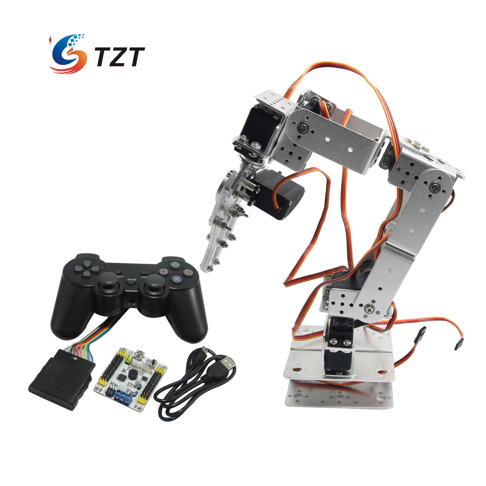 Assembled Robot 6 DOF Arm Mechanical Robotic Clamp Claw with LD 1501 Servos Controller for Arduino