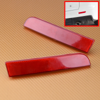 CITALL Car 1Pair Left Right Red Lens Rear Bumper Reflector Tail Brake Light Stop Lamp For
