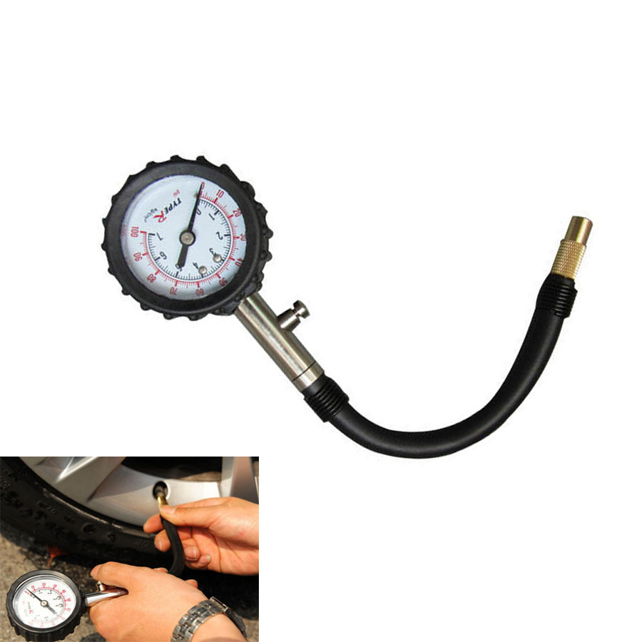 Hot Tube Auto Car Bike Motor Tyre <font><b>Air</b></font> Pressure <font><b>Gauge</b></font> Meter Tire Pressure <font><b>Gauge</b></font> <font><b>0-100</b></font> PSI Meter Vehicle Tester Monitoring System