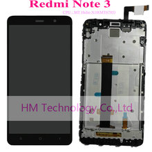 Black White Gold LCD TP Frame for Xiaomi Redmi Note3 Note 3 LCD Display Touch Screen