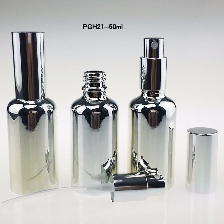 PGH21-50ml Silver Glass mist pump bottle (2)
