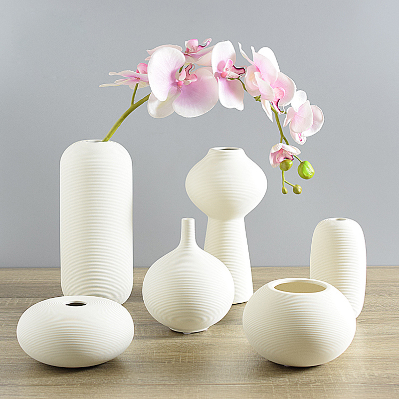 Ceramic Desktop Vase Ornaments Jewelry Creative Home Furnishing Small White Vase Decorated With Modern Art Ceramic For Home S
