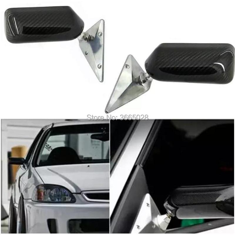 frete gratis espelho mestre universal f1 corridas de carro de drift espelho retrovisor lateral de fibra