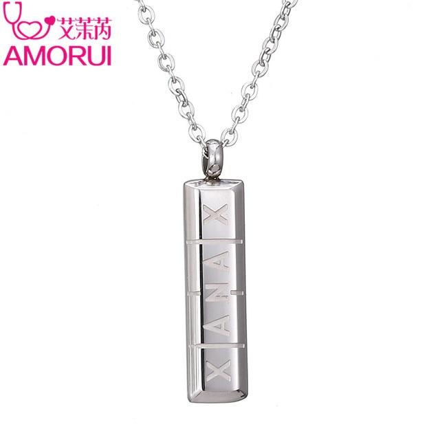 Amorui womens pill collier femme necklace vertical id bar amorui womens pill collier femme necklace vertical id bar necklaces pendants for women gold aloadofball Choice Image