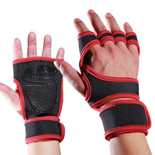 Indoor sports men and women exercise weight lifting pressure non-slip cycling half finger gloves