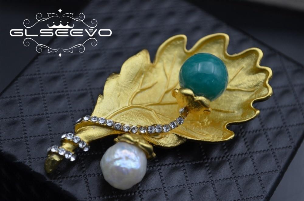 XlentAg naturel eau douce blanc perle broches péridot broches pour femmes accessoires fête double usage luxe bijoux fins GO0284 - 4