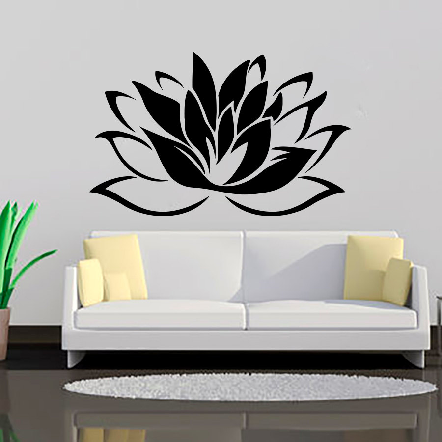 ZOOYOO Top Selling Buddhism Lotus Wall Stickers Living Room ...