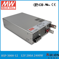 Original MEAN WELL RSP 3000 12 3000W 200A 12V ac/dc meanwell Power Supply with PFC function current sharing (Parallel operation)