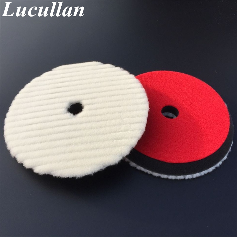 7 180mm Japanese-Style Short Hair Auto Detailing Buffing Cutting Pad Natural Sheepskin Wool Polishing Pad spta 4 100mm genuine wool buffing ball polishing pad ball hex shank turn power drill or impact driver high speed polisher