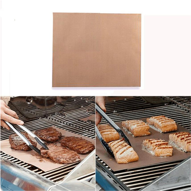 Brown 40 33cm Kitchen Copper Chef Grill And Bake Mats