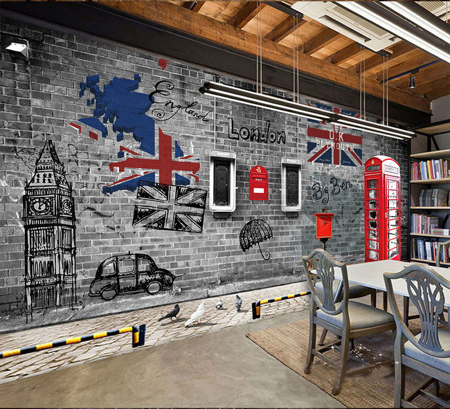 detail feedback questions about european and american retrodetail feedback questions about european and american retro nostalgia london phone booth cafe restaurant large mural 3d wallpaper bedroom living room tv