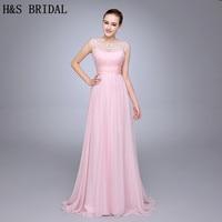 HS10 Best Selling Geplooide Kralen Vrouw Jurk Chiffon Roze Avondjurk V Terug Met Bandjes Avondfeest Gown