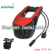 Ainina Dual lens WiFi FHD1080P hidden car dash cam with rearview camera ,Sensor Sony 323 Car Dvr Night vision