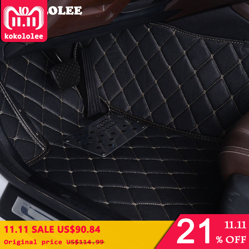 KOKOLOLEE Custom Car Floor Mats For Ford Focus 2 3 kuga ecosport explorer mondeo fiesta mustang car-styling Auto Interior mats цена