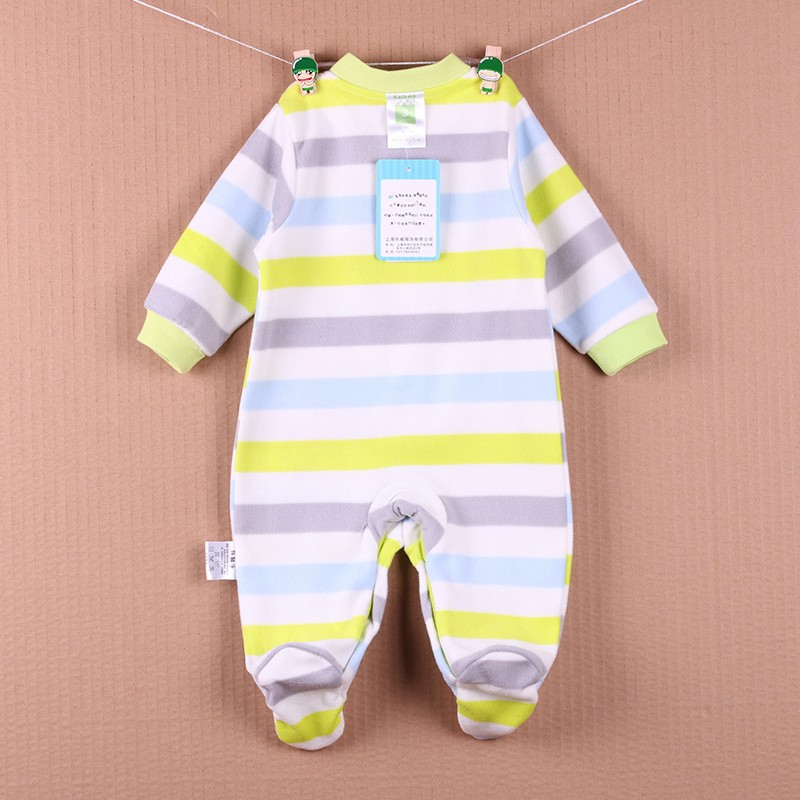 New Arrival Baby Footies Boys&Girls Jumpsuits Spring Autumn Clothes Warm Cotton Baby Footies Fleece Baby Clothing Free Shipping (10)