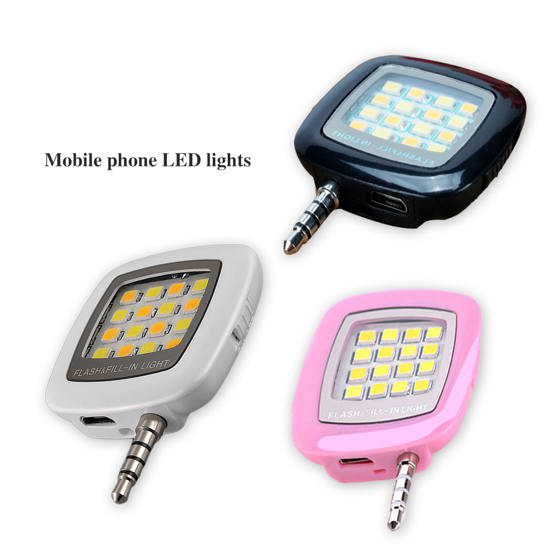 Etmakit Mobile Phone 16 LED Flash Light Adjustable Fill light For iPhone 6 Universal Android Phones Mini Selfie Sync Flashlight