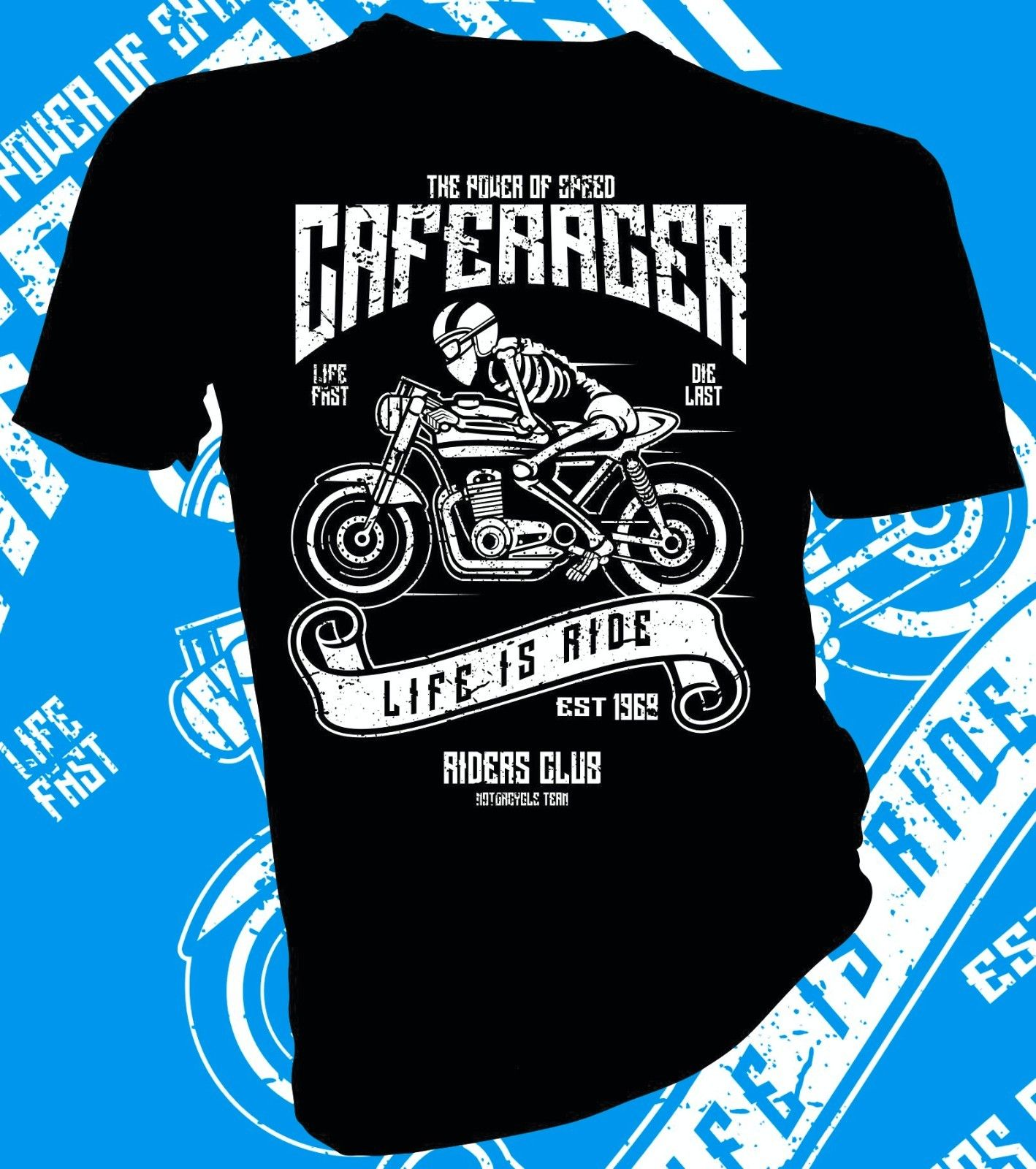 2018 Fashion Hot sale Life Is Ride Biker, Motorcycle Adult Unisex & Female T-Shirt Tee shirt