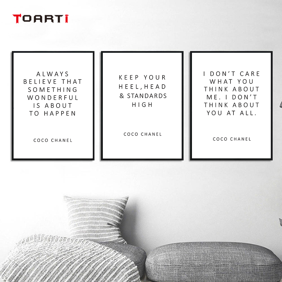 CoCo Motivational Quotes Posters Prints Always Believe That Inspirational Letters Canvas Painting For Women Bedroom Home Decor (6)